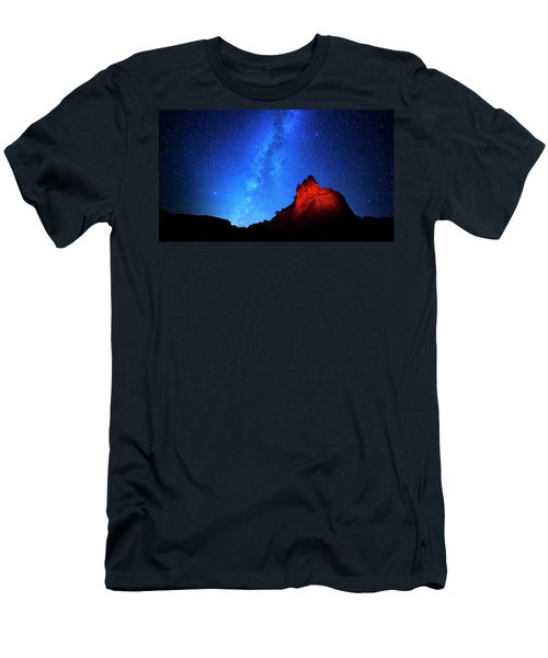 Milky Way And Caprock Men's T-Shirt (Athletic Fit)