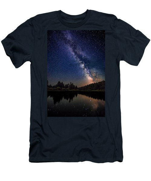Milky Way Over The Deschutes River Men's T-Shirt (Athletic Fit)
