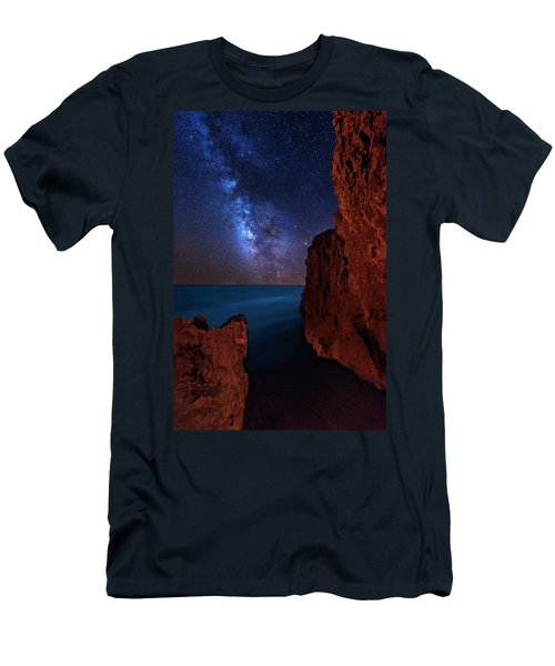 Milky Way Over Huchinson Island Beach Florida Men's T-Shirt (Athletic Fit)