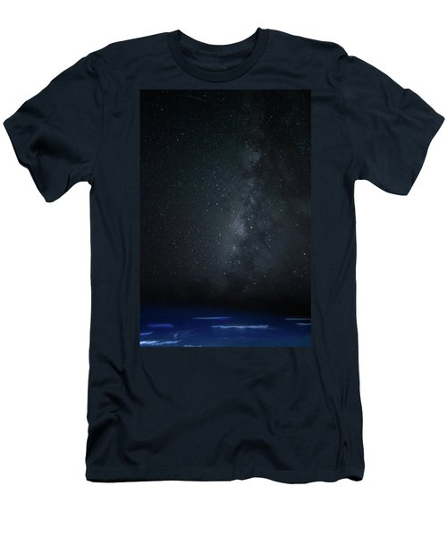 Men's T-Shirt (Slim Fit) featuring the photograph Milky Way Over Poipu Beach by Roger Mullenhour
