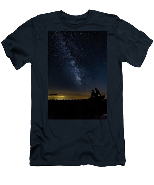 Milky Way Viewed From Rough Ridge Men's T-Shirt (Athletic Fit)