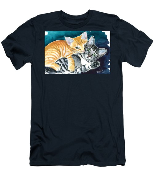 Milo And Tigger - Cute Kitty Painting Men's T-Shirt (Athletic Fit)