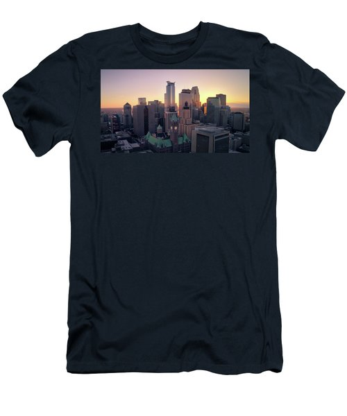 Minneapolis At Sunset Men's T-Shirt (Athletic Fit)