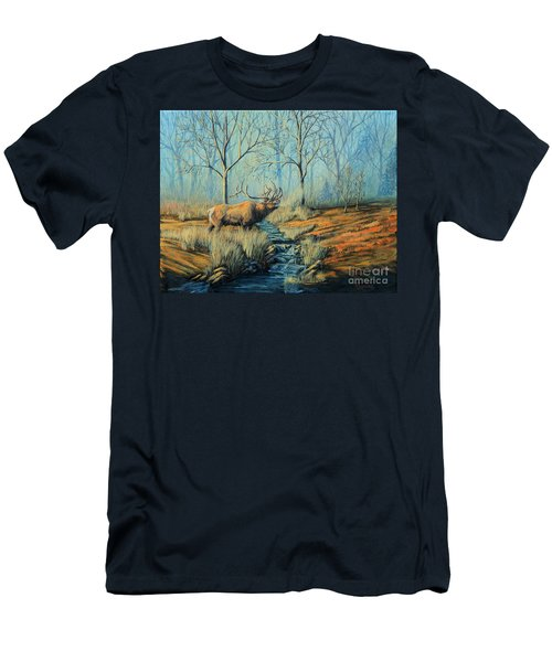 Misty Morning Bugler Men's T-Shirt (Athletic Fit)