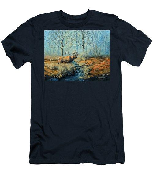 Misty Morning Bugler Men's T-Shirt (Athletic Fit)