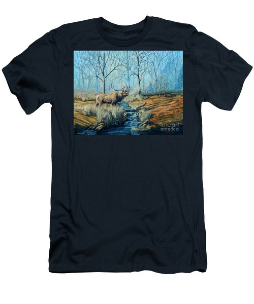 Misty Morning Bugler Men's T-Shirt (Slim Fit) by Ruanna Sion Shadd a'Dann'l Yoder