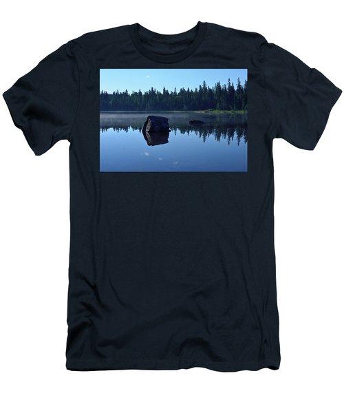 Misty Summer Morning Men's T-Shirt (Slim Fit) by David Porteus