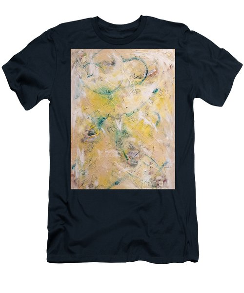 Mixed-media Free Fall Men's T-Shirt (Slim Fit) by Gallery Messina