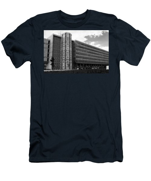Men's T-Shirt (Slim Fit) featuring the photograph Modern Lisbon - The Palace Of Justice by Lorraine Devon Wilke