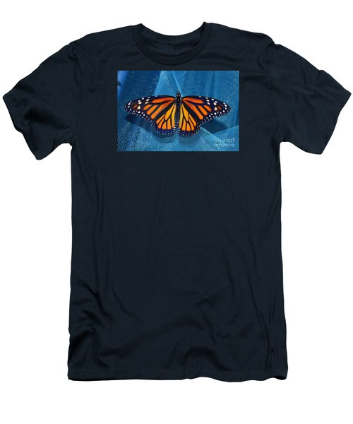 Men's T-Shirt (Slim Fit) featuring the photograph Monarch Royalty by Lew Davis