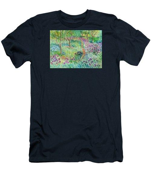Monet Inspired Iris Garden Men's T-Shirt (Athletic Fit)