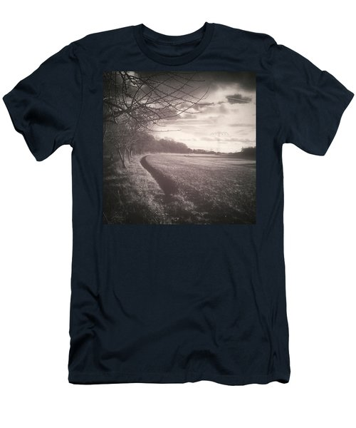 #monochrome #landscape  #field #trees Men's T-Shirt (Athletic Fit)