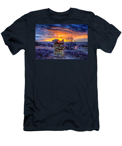 Monolithic Sunrise Men's T-Shirt (Athletic Fit)