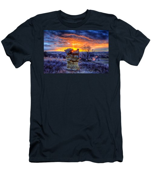 Monolithic Sunrise Men's T-Shirt (Athletic Fit)