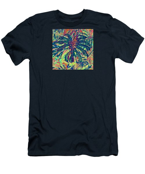 Monstera Leaf Patterns - Square Men's T-Shirt (Athletic Fit)