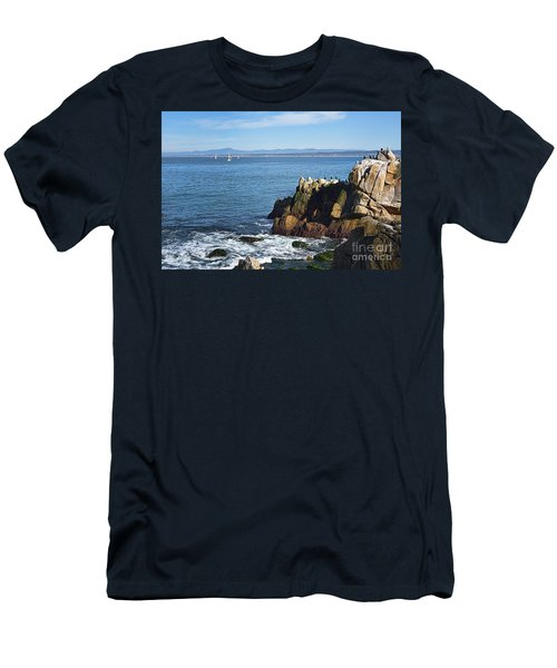 Men's T-Shirt (Slim Fit) featuring the photograph Monterey Bay by Gina Savage
