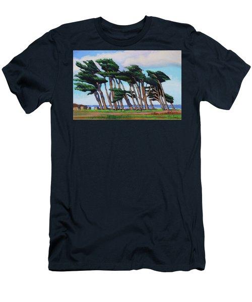 Monterey Cypress Row  Men's T-Shirt (Athletic Fit)