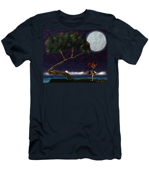 Men's T-Shirt (Athletic Fit) featuring the digital art Moon Dancer by Iowan Stone-Flowers