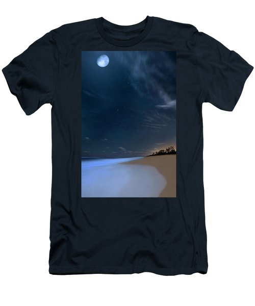 Moon Over Hobe Sound Beach Florida  Men's T-Shirt (Athletic Fit)