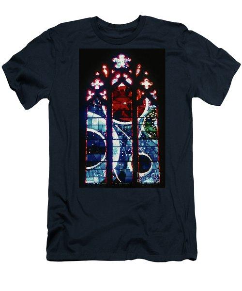 Moon Rock In Space Window Men's T-Shirt (Athletic Fit)