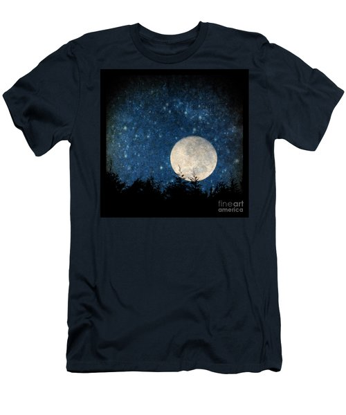 Moon, Tree And Stars Men's T-Shirt (Athletic Fit)