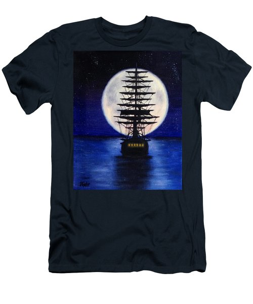 Moon Voyage Men's T-Shirt (Athletic Fit)