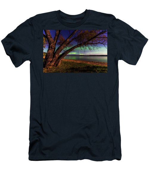Moon Vs Aurora Men's T-Shirt (Athletic Fit)