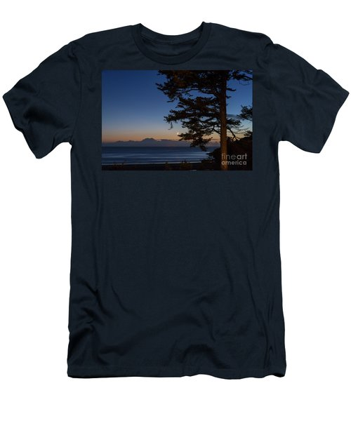 Moonlight At The Beach Men's T-Shirt (Athletic Fit)