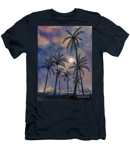 Moonlight Over Key West Men's T-Shirt (Athletic Fit)