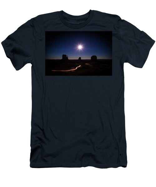Moonlight Over Valley Men's T-Shirt (Athletic Fit)