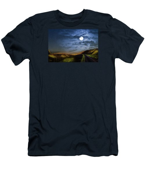 Moonlight Path Men's T-Shirt (Slim Fit) by Swank Photography