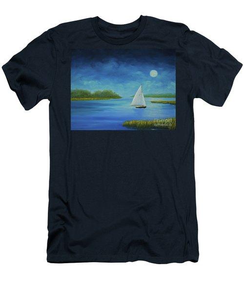 Moonlight Sail Men's T-Shirt (Athletic Fit)