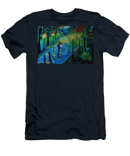 Moonlight Stroll Men's T-Shirt (Slim Fit) by Leslie Allen