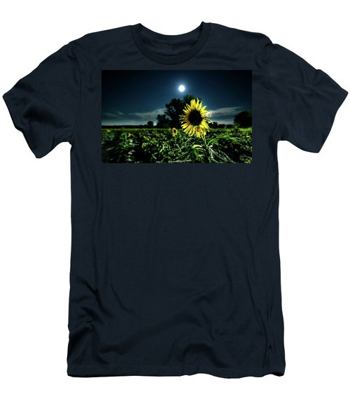 Men's T-Shirt (Slim Fit) featuring the photograph Moonlighting Sunflower by Everet Regal
