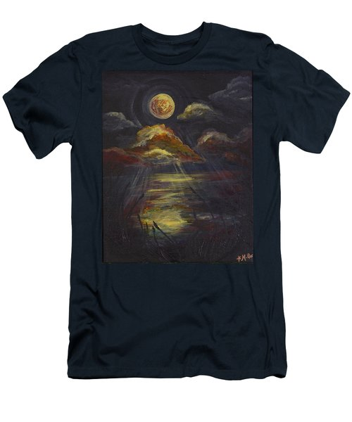 Moonlit Beach Guam Men's T-Shirt (Athletic Fit)