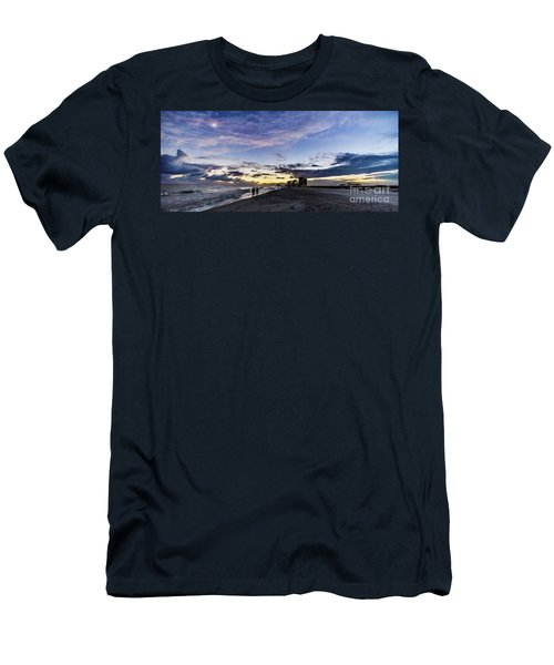 Moonlit Beach Sunset Seascape 0272c Men's T-Shirt (Athletic Fit)