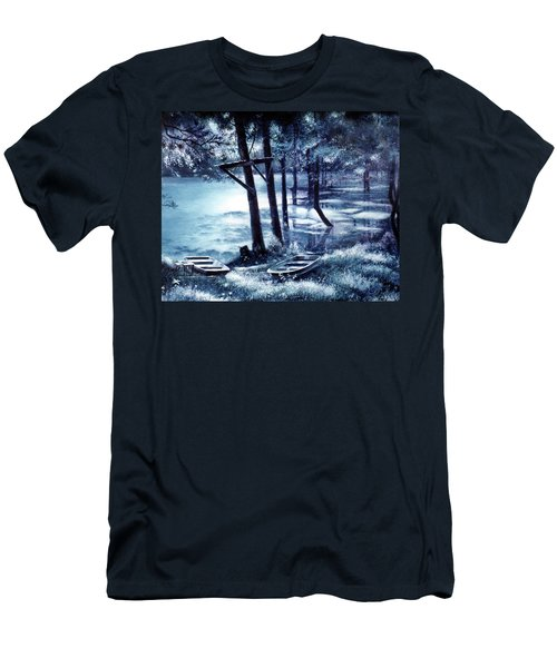 Moonlite On Village Creek Men's T-Shirt (Athletic Fit)