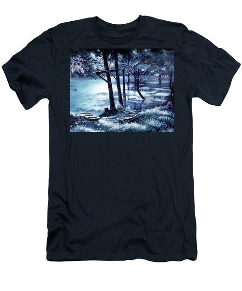 Moonlite On Village Creek Men's T-Shirt (Athletic Fit)