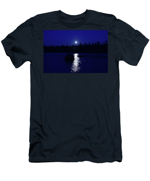 Moonrise On A Midsummer's Night Men's T-Shirt (Slim Fit) by David Porteus