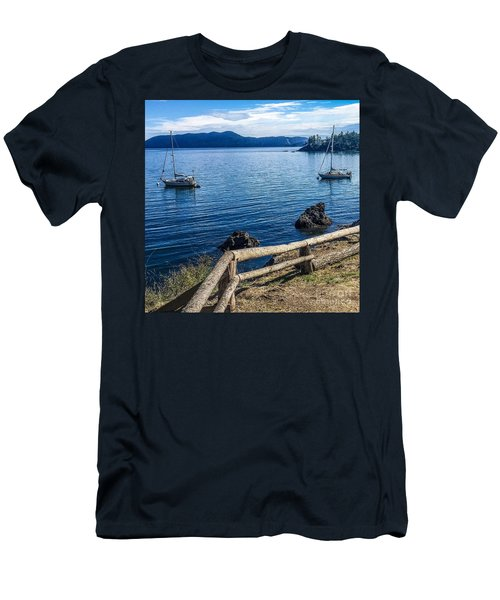 Men's T-Shirt (Slim Fit) featuring the photograph Mooring In Doe Bay by William Wyckoff