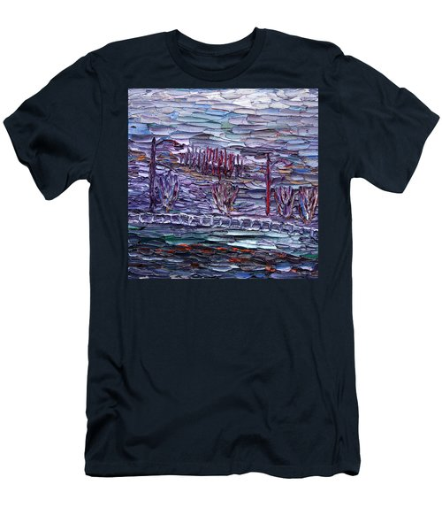 Men's T-Shirt (Slim Fit) featuring the painting Morning At Sayreville by Vadim Levin