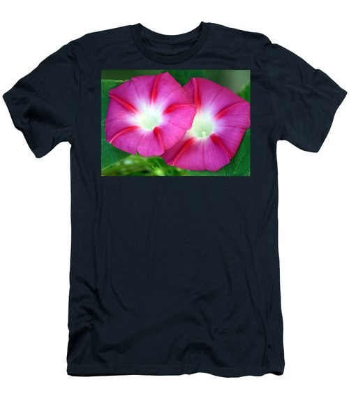 Men's T-Shirt (Slim Fit) featuring the photograph Morning Glories by Sheila Brown