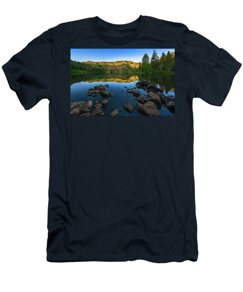 Morning Reflection On Castle Lake Men's T-Shirt (Athletic Fit)