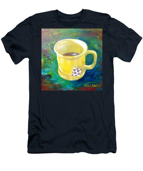Morning Tea Men's T-Shirt (Slim Fit) by T Fry-Green