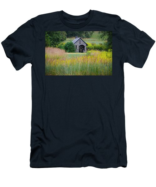 Men's T-Shirt (Athletic Fit) featuring the photograph Morris Arboretum Mill In September by Bill Cannon