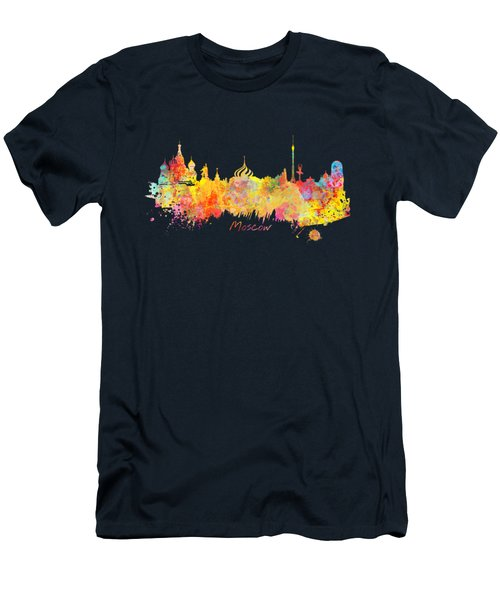 Moscow Skyline  Men's T-Shirt (Slim Fit) by Justyna JBJart