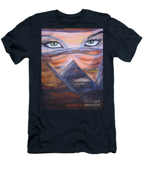 Men's T-Shirt (Slim Fit) featuring the painting Mother Of Death by Tbone Oliver