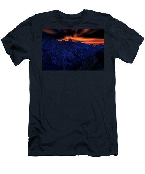 Men's T-Shirt (Slim Fit) featuring the photograph Mount Doom by John Poon