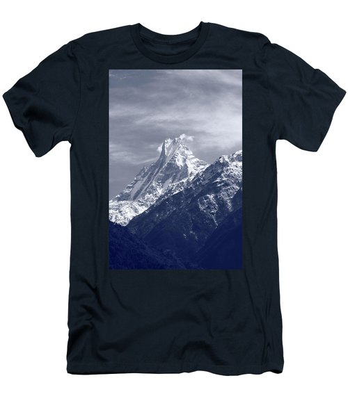 Men's T-Shirt (Athletic Fit) featuring the photograph Mount Machapuchare, The Himalayas, Nepal by Aidan Moran