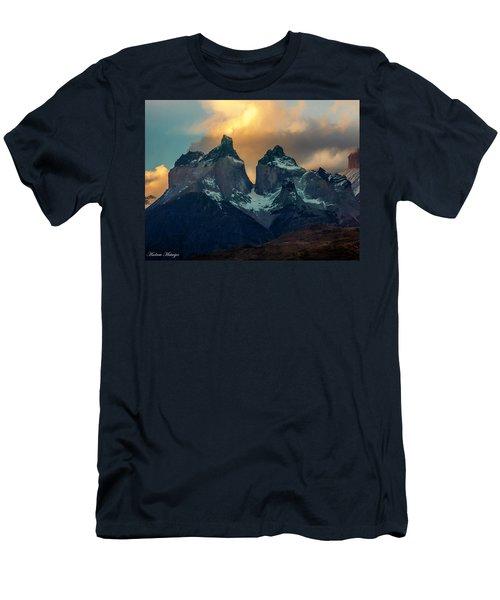 Mountain Evening Men's T-Shirt (Slim Fit) by Andrew Matwijec